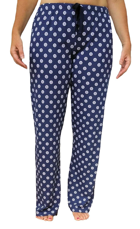 Tommy Hilfiger Womens Medallion Print Lounge Pajama Long Pant