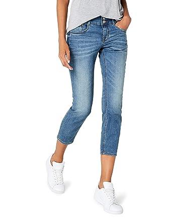 2412b891c7e774 Tom Tailor Women's Jeans Alexa Slim 7/8/603 Blau (Stone wash Denim 1054),  34W/32L: Amazon.co.uk: Clothing