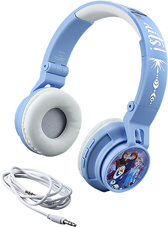 eKids Disney Frozen 2 Wireless Bluetooth Portable Kids Headphones with Microphone