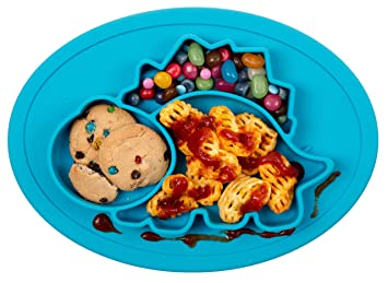 Fisher Price Plastic Kids Divided Dish 1990 Baby Bowls & Plates