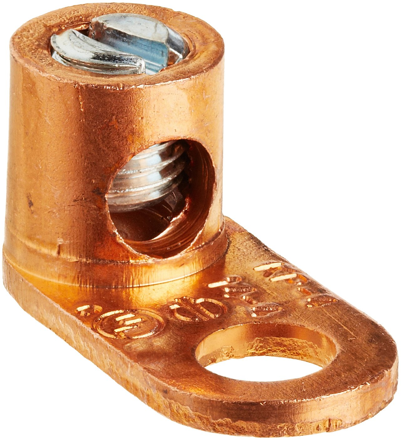 Split Bolt, Post and Tap Connector, Type TL Copper and Cast Bronze Terminal Lug, 14 sol - 4 str Wire Range, 1/4'' Bolt Hole Size, 1 Hole, 70 Amp NEC, 0.500'' Width, 0.563'' Height, 1.125'' Length by NSI