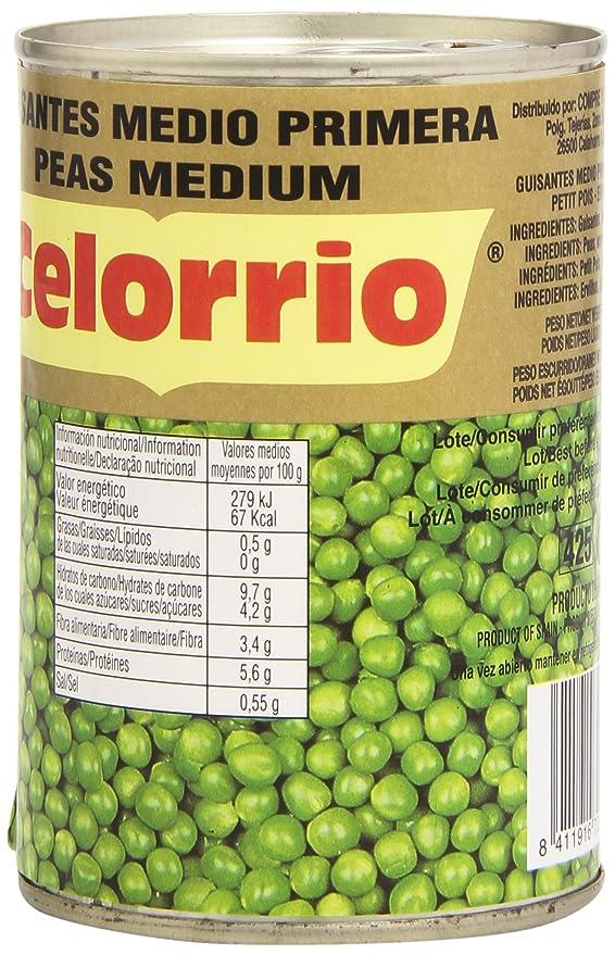 Celorrio - Guisantes medio - Primera - 250 g: Amazon.es: Alimentación y bebidas