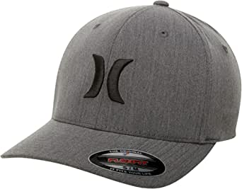 Hurley Men's Apparel Men's Black Textures Flexfit Baseball Cap, Black/Black