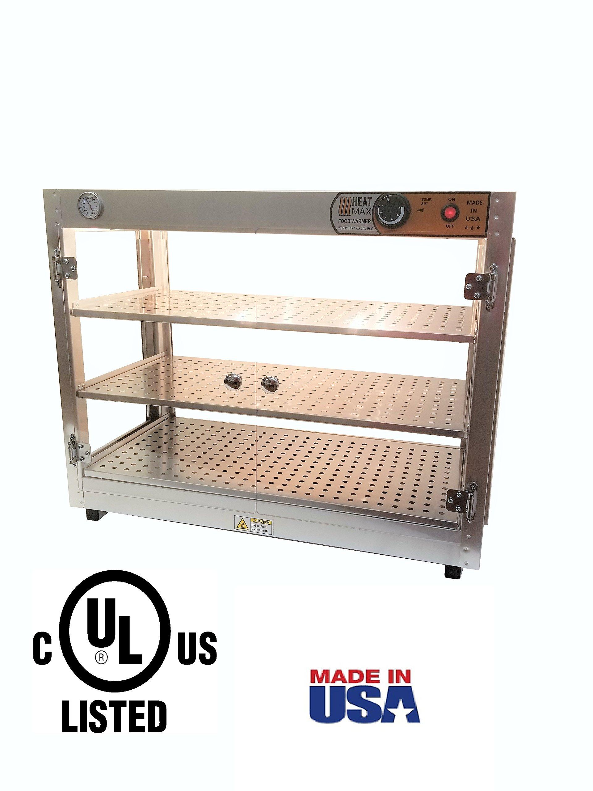 Heatmax 30x15x24 Commercial Food Warmer Merchandiser Display Case, Patty, Pastry, Pizza Warmer