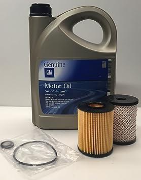 GM OPEL Pack Aceite Motor Original 5w30 5 litros + filtros Fram ...
