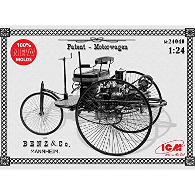 ICM 24040-1/24 Benz Patent-Motorwagen 1886 1/24 Scale Model kit 1885: Toys & Games
