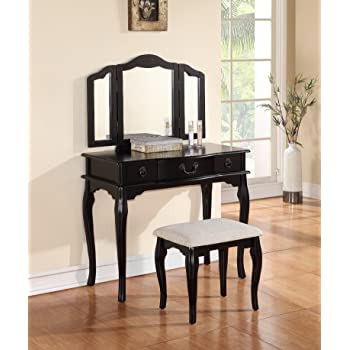 linon home decor lorraine vanity set black linon home decor lorraine vanity set white 13670