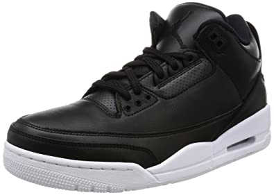 136064-020 MEN AIR 3 RETRO JORDAN BLACK WHITE