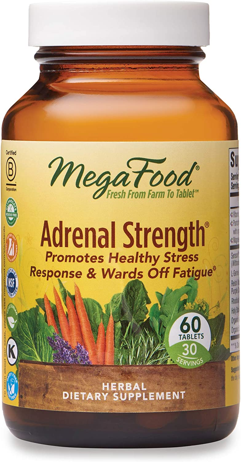MegaFood, Adrenal Strength, Supports a Healthy Stress Response, Herbal Supplement Vegetarian, 60 Tablets (30 Servings): Health & Personal Care