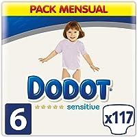 Dodot Sensitive Pañales Talla 6, 117 Pañales, 13kg+