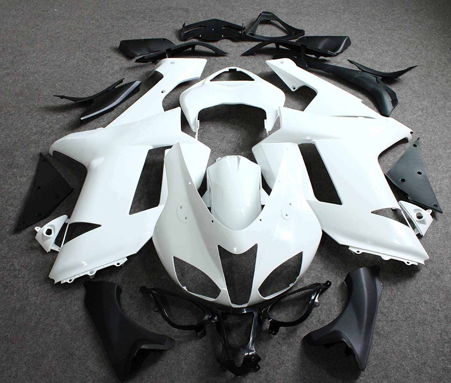 ZXMOTO Unpainted Fairing Kit for Kawasaki Ninja 636 ZX-6R (2007-2008)