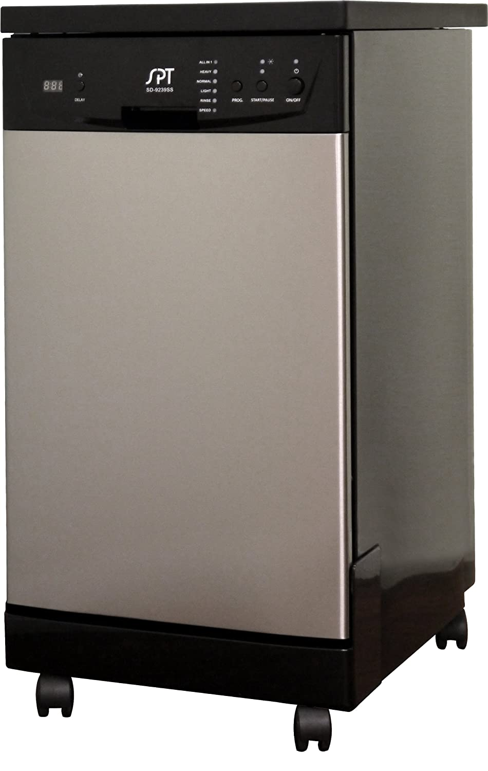 SPT SD-9241SS Energy Star Portable Dishwasher, 18-Inch, Stainless Steel Sunpentown