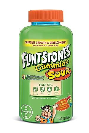 Gomitas ácidas completas, niños multivitamínicos, 180 Gummies - Picapiedra: Amazon.es: Salud y cuidado personal