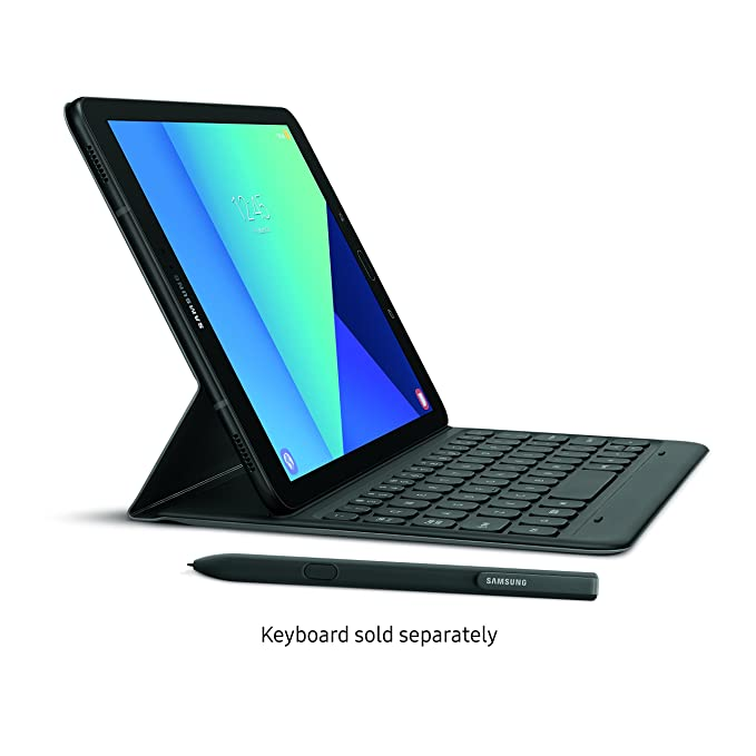Samsung Galaxy Tab S3 9 7-Inch Tablet (Black) + Samsung Galaxy Tab S3  Keyboard Cover (Grey)