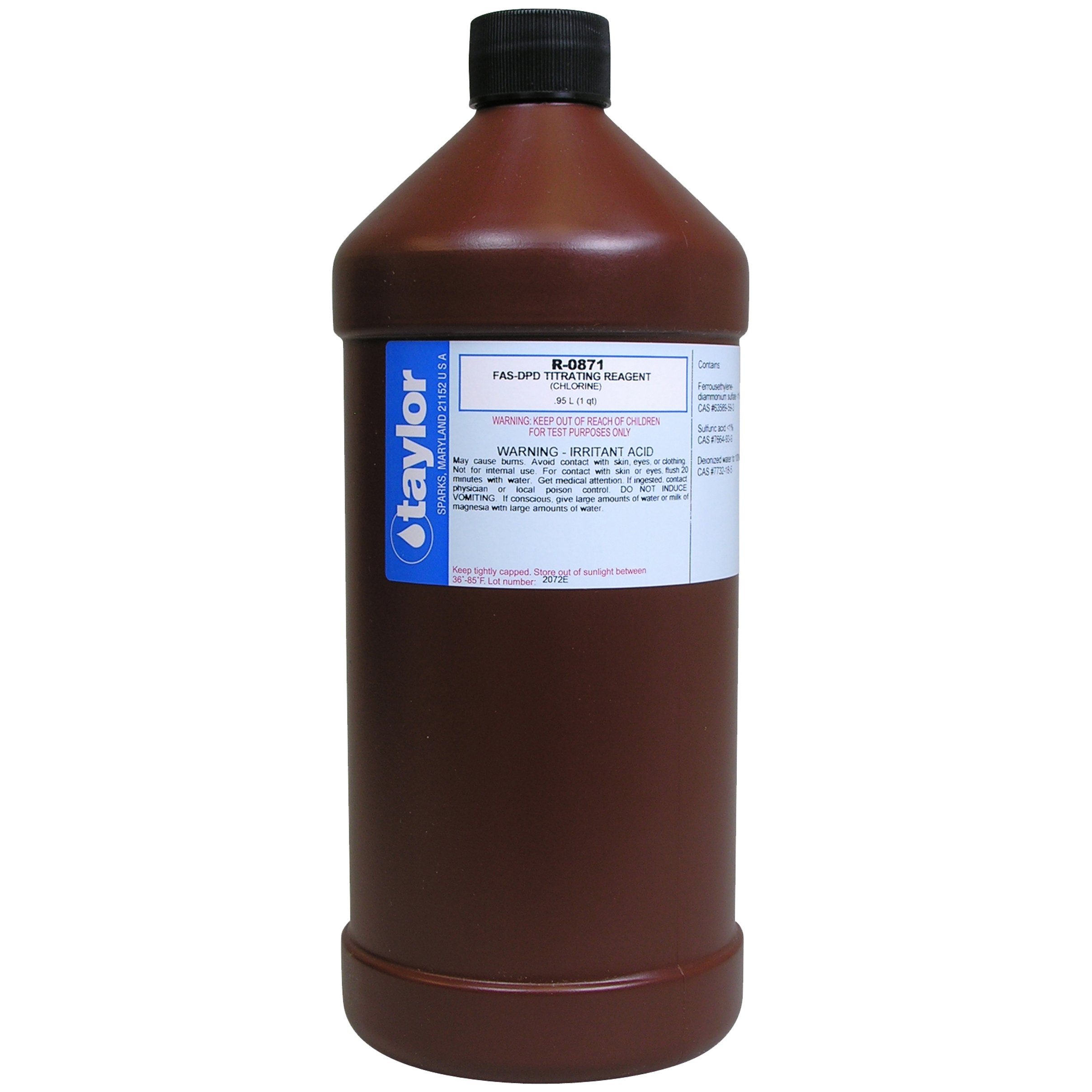 Taylor R0871-F Replacement Pool Reagents FAS-DPD Titrating Reagent - 1 Quart. by Taylor