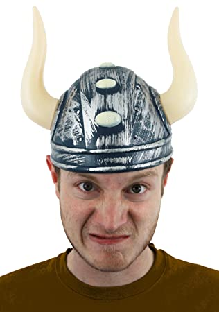 5755b5238a4 VIKING HELMET FANCY DRESS COSTUME ACCESSORY MENS NORDIC WARRIOR MEDIEVAL  NORSE GOD HAT WITH HORNS  Amazon.co.uk  Toys   Games
