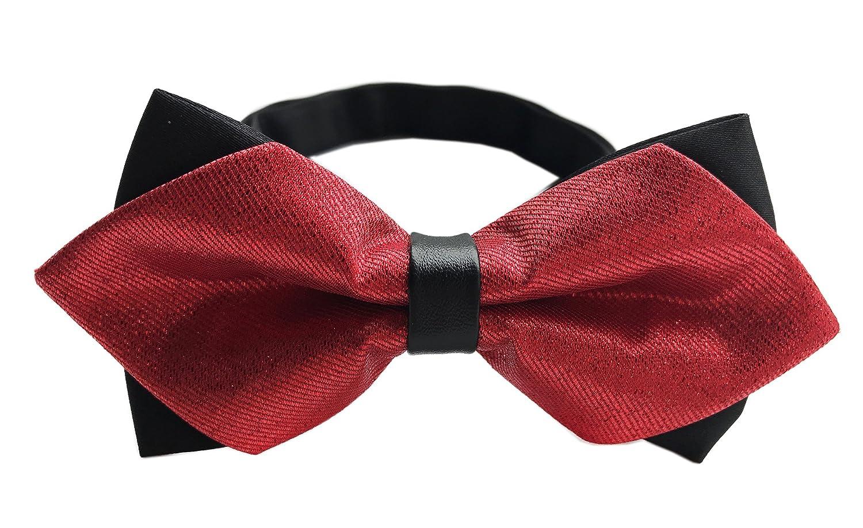e2fbd62129eb Amazon.com: Big Boys Solid Black Satin Bow Tie Halloween Festivals Bowtie  Gift for Youth Men: Clothing