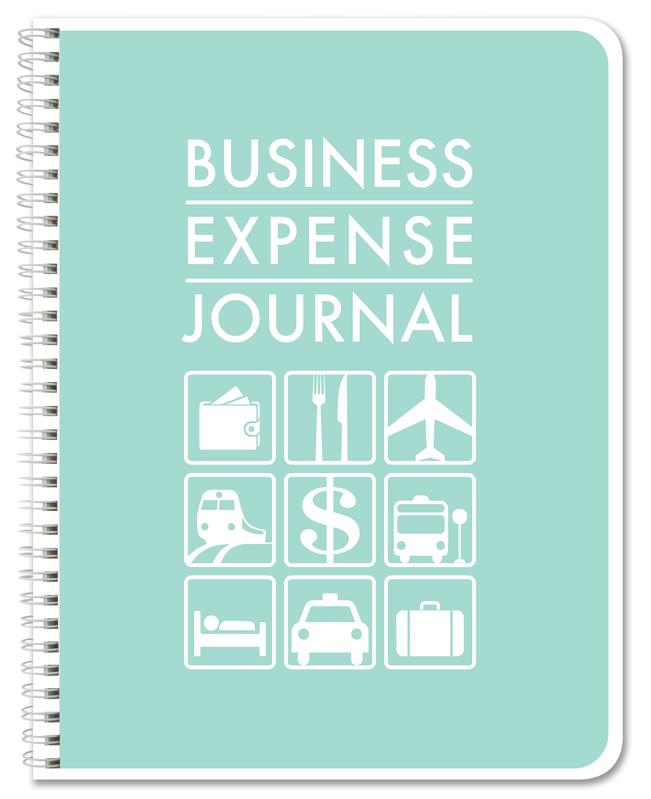 BookFactory Business Expense Journal/Expense Ledger Book/LogBook 110 pages 8.5'' x 11'' Wire-O (BUS-110-7CW-A(BusinessExpense))