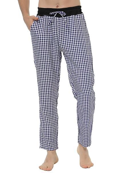 Hawiton Pantalones de Pijama para Hombre Largo Invierno Algodón