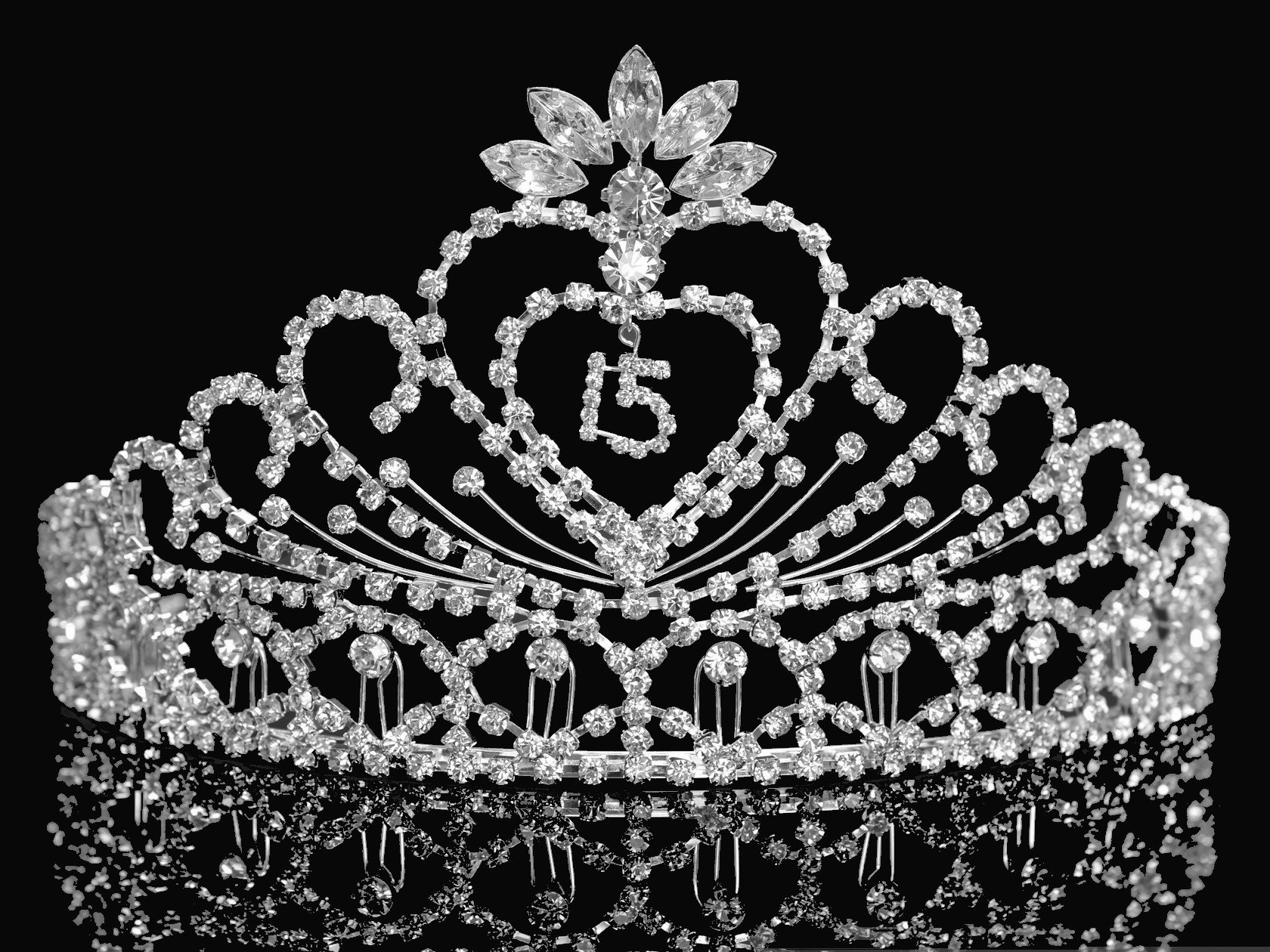 Quinceanera 15 Birthday Tiara Crystal Princess 1337FA by SparklyCrystal