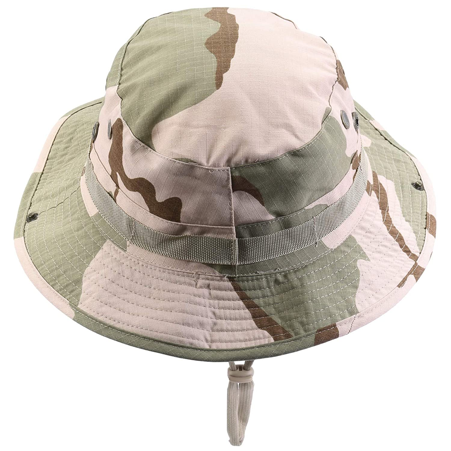 4461ae42f9b Amazon.com   squaregarden Military Camo Adjustable Boonie Hat Hunting Bucket  Hats   Woodland Camo   Sports   Outdoors