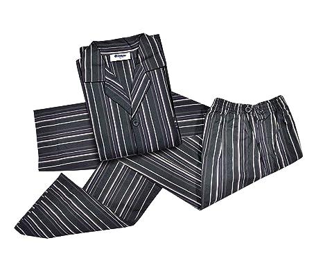separation shoes cac21 b6ce7 MATTIOLI Pigiama Uomo INBLU Lungo 100% Cotone Popeline a Righe