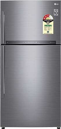 LG 547 L 3 Star Frost Free Double Door Refrigerator(GN-H702HLHU.APZQEBN, Platinum Silver, Inverter Compressor)