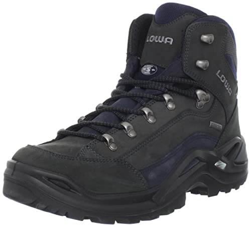 LOWA Boots Renegade GTX Mid, Men's Renegade GTX Mid, Dark Grey/Navy,