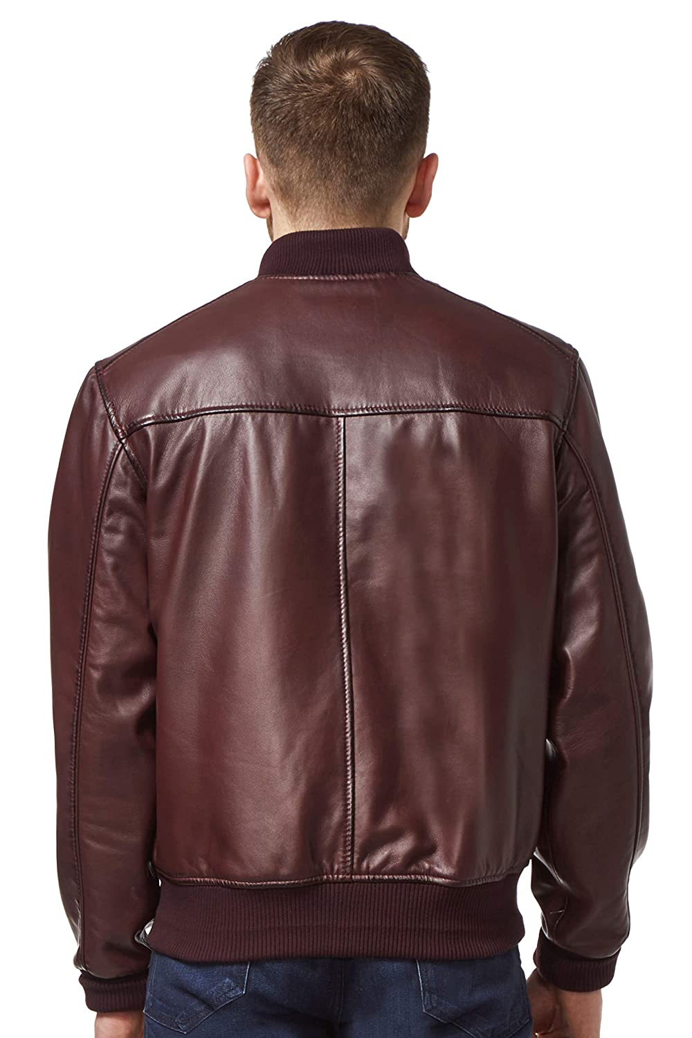 New Stylish Men/'s Tan Classic Italian Tailored Blazer Soft Nappa Leather Jacket