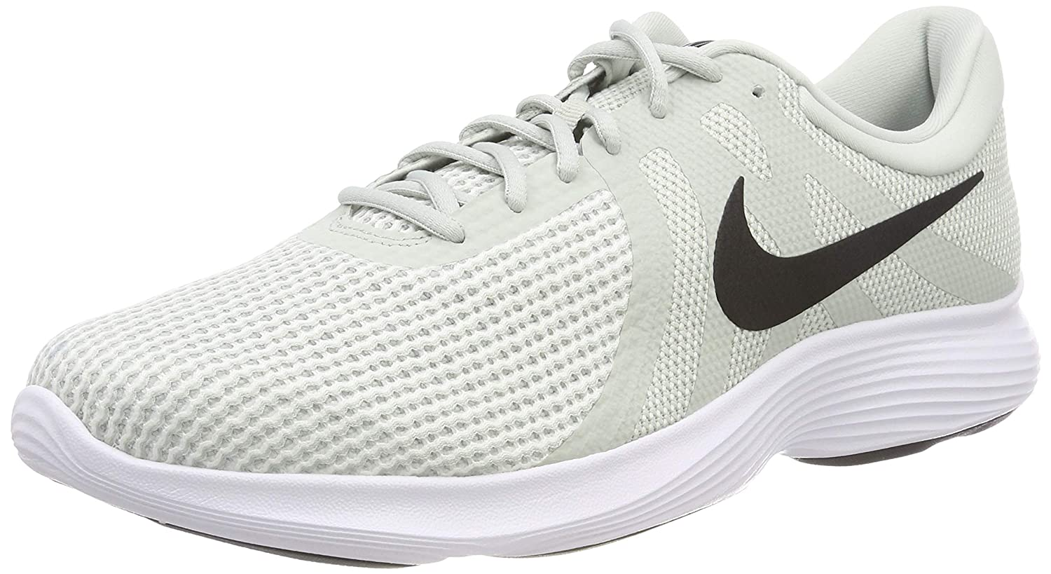 Nike Revolution 4 EU, Zapatillas de Running para Hombre 45.5 EU|Multicolor (Light Silver/Black/Sail/White 019)