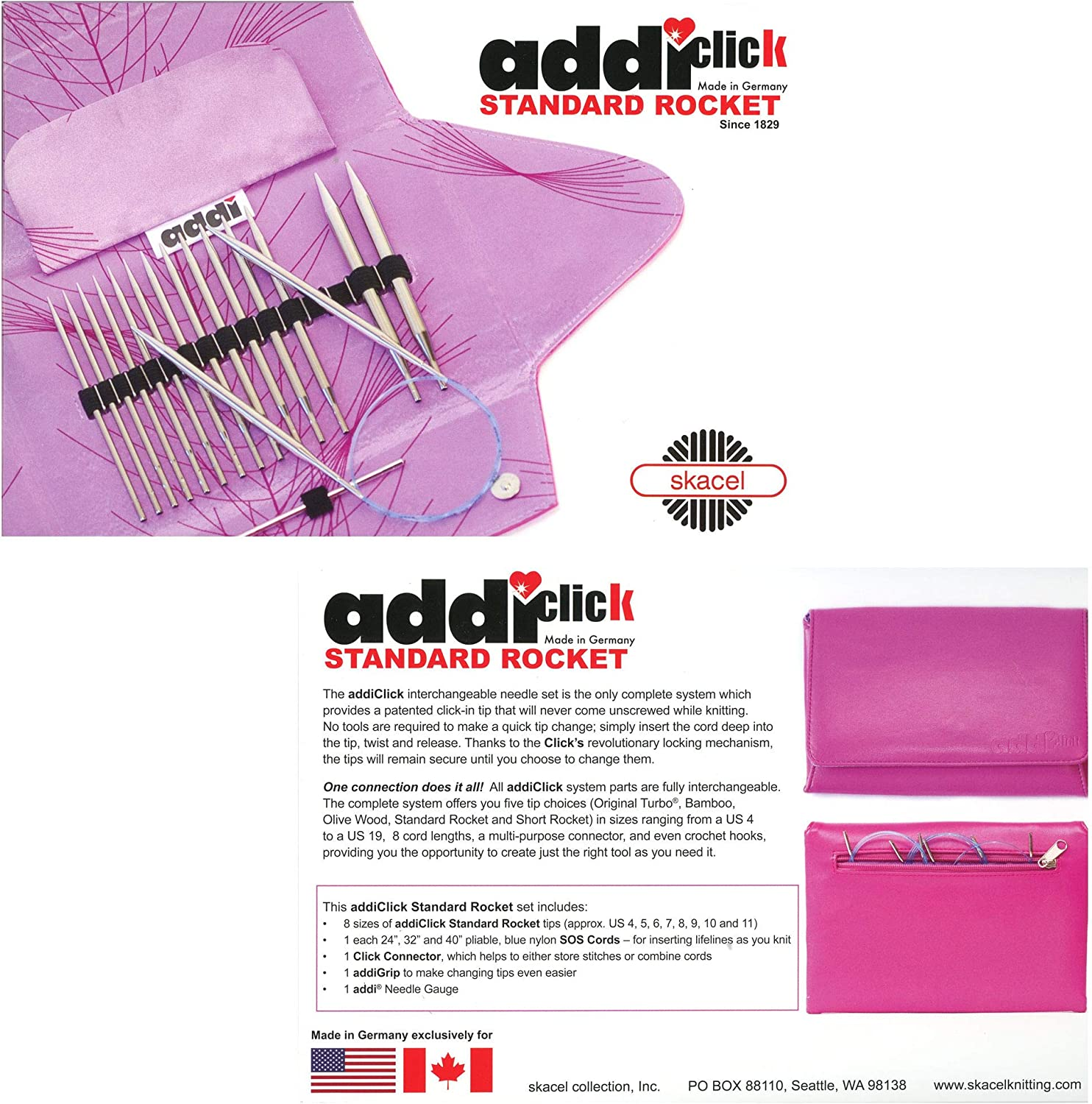 Case Only addi Click Lace Long Tip FUSCHIA PINK