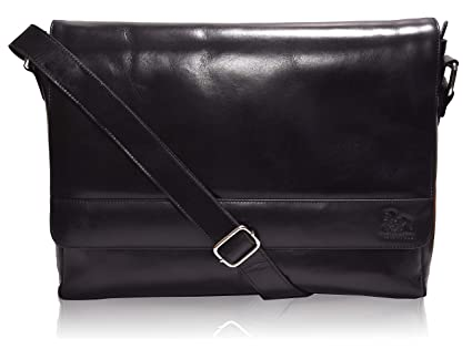 Image Unavailable. Image not available for. Color  Leather Laptop Messenger  Bag for Men - Premium Office ... ffb600a261bd4