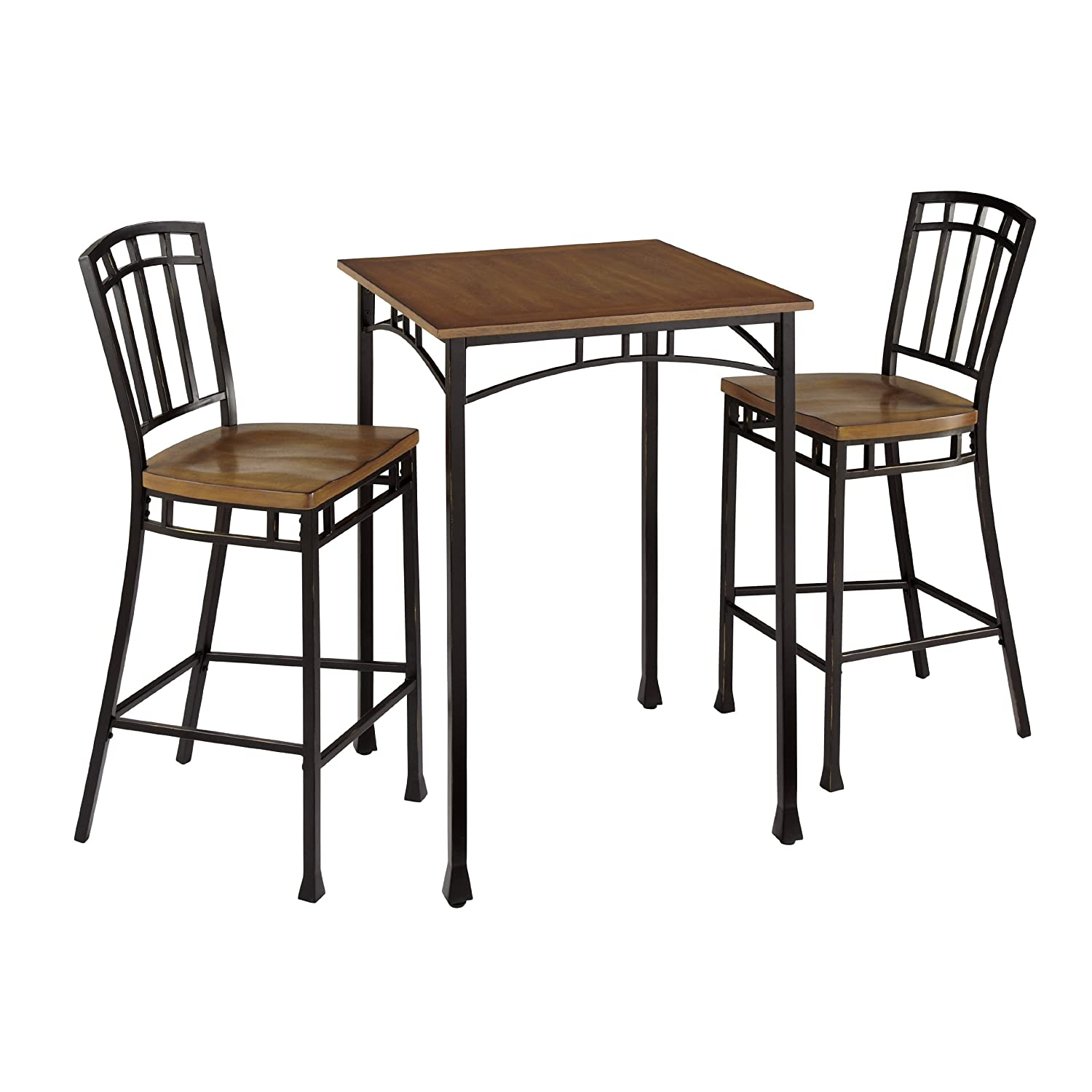 Amazon.com Home Styles 5050-359 Modern Craftsman 3-Piece Bistro Set Kitchen u0026 Dining  sc 1 st  Amazon.com : craftsman stool and table set - islam-shia.org