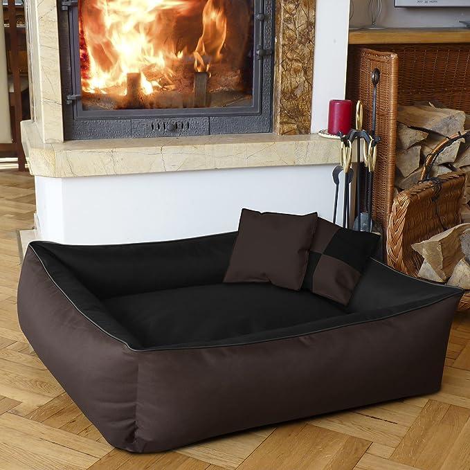 BedDog 2 en 1 colchón para perro MAX QUATTRO L aprox. 80x65 cm, 8 colores, cama para perro, sofá para perro, cesta para perro, marron/negro: Amazon.es: ...