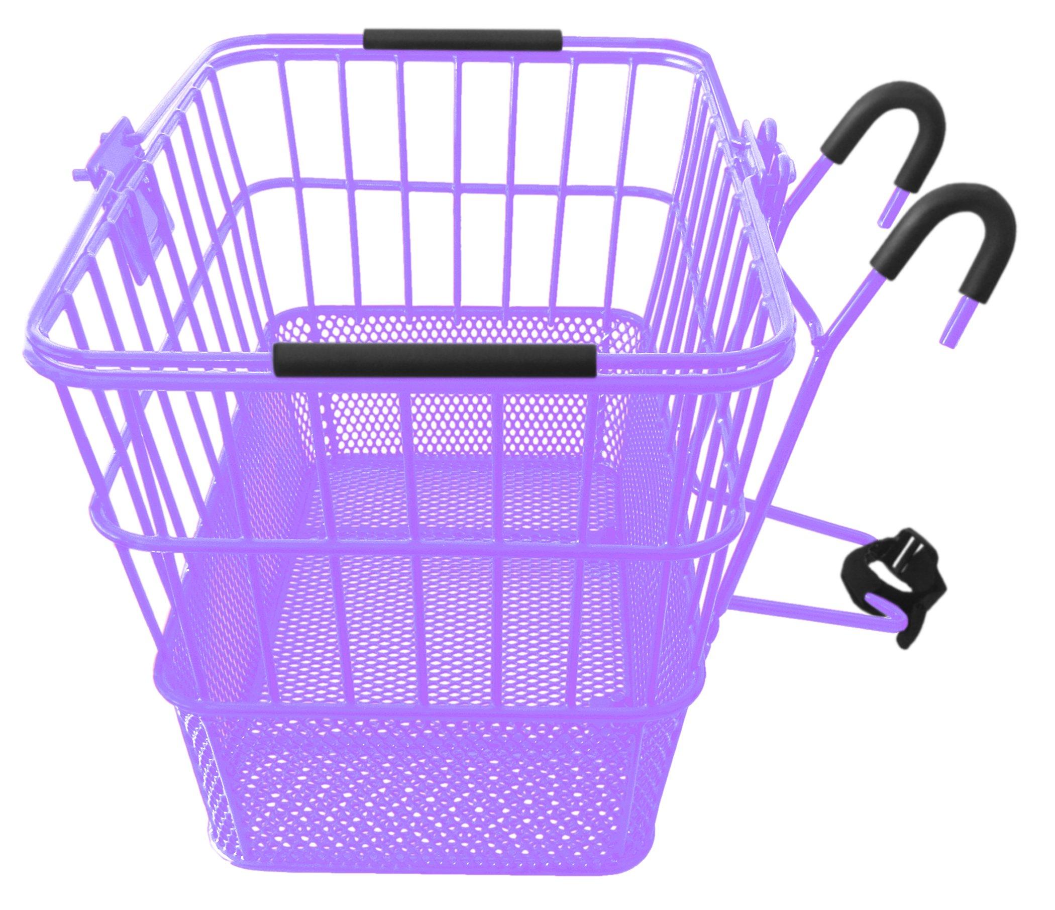 Mesh Bottom Lift-Off Basket w/ Bracket, Purple