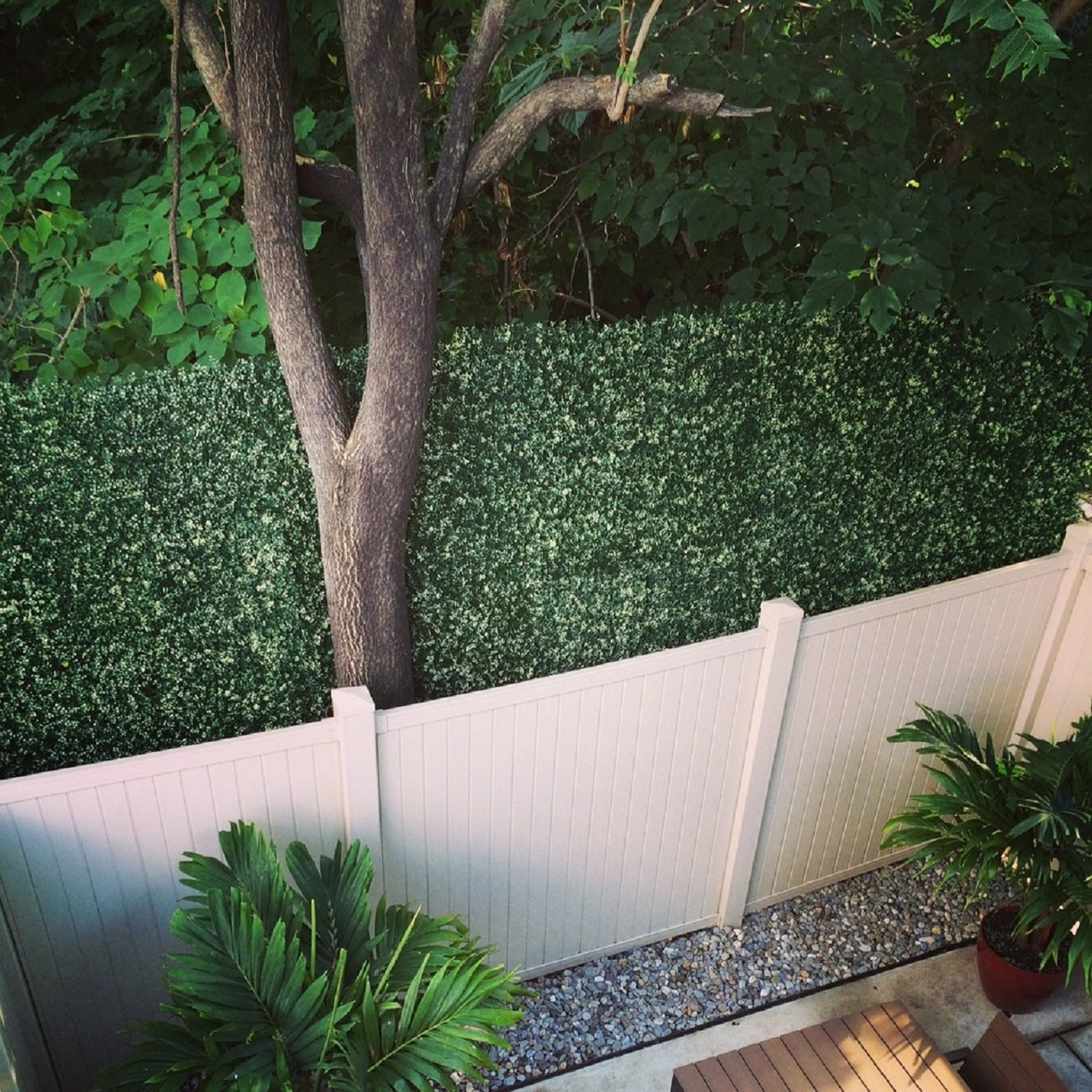 Greensmart D/écor Artificial Boxwood Ficus 20 x 20 Greenery Mats Set of 4 Greensmart Décor MZ-8050