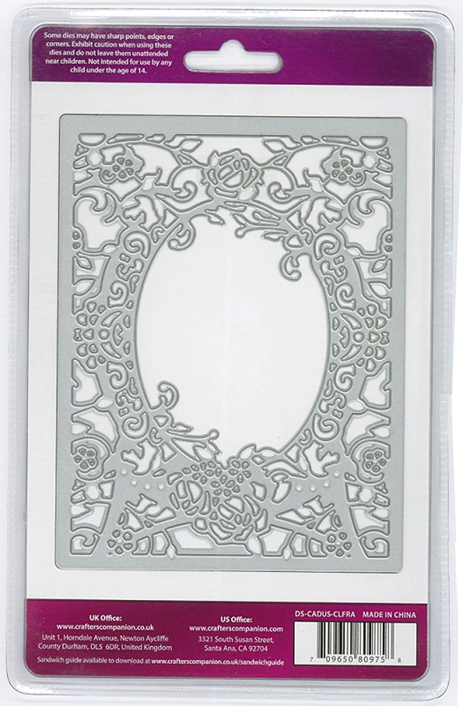 Create-a-Card Floral Frame Die'Sire Dies, Multicolor