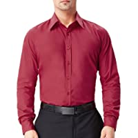 PAUL JONES Men's Business Casual Long Sleeves Dress Shirts