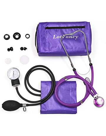 Aneroid Sphygmomanometer and Dual Head Stethoscope, LotFancy Manual Blood Pressure Monitor, Adult Cuff (