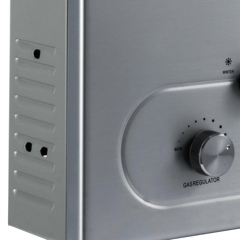 Olibelle 6L-LPG 12 KW Chauffe-eau Gaz Radiateur Pour Eau /à Gaz Propane Chauffage dEau Instantan/é
