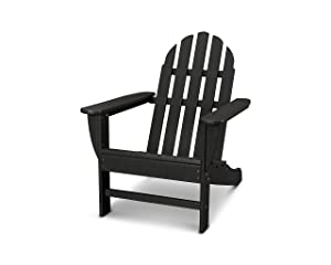 POLYWOOD AD4030BL Classic Outdoor Adirondack Chair, Black