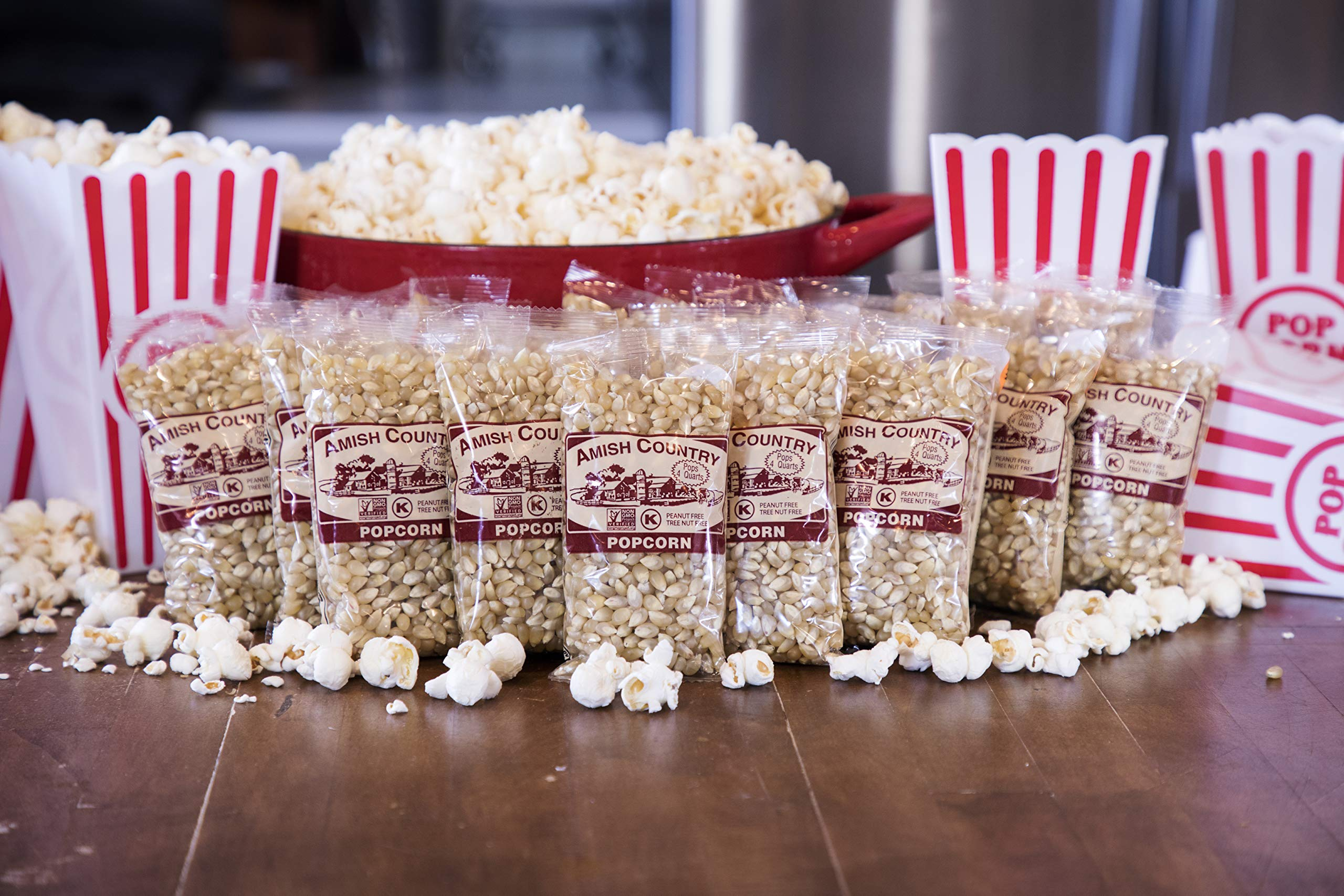 Amish Country Popcorn - Medium White Popcorn (4 Ounce - 24 Pack) Bags - Old Fashioned, Non GMO, and Gluten Free - with Recipe Guide by Amish Country Popcorn (Image #3)