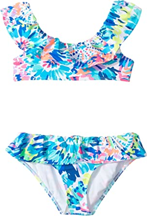 08af4adfff Amazon.com: Lilly Pulitzer Kids Baby Girl's Christa Bikini (Toddler/Little  Kids/Big Kids) Multi Dive In Swimsuit Set: Clothing