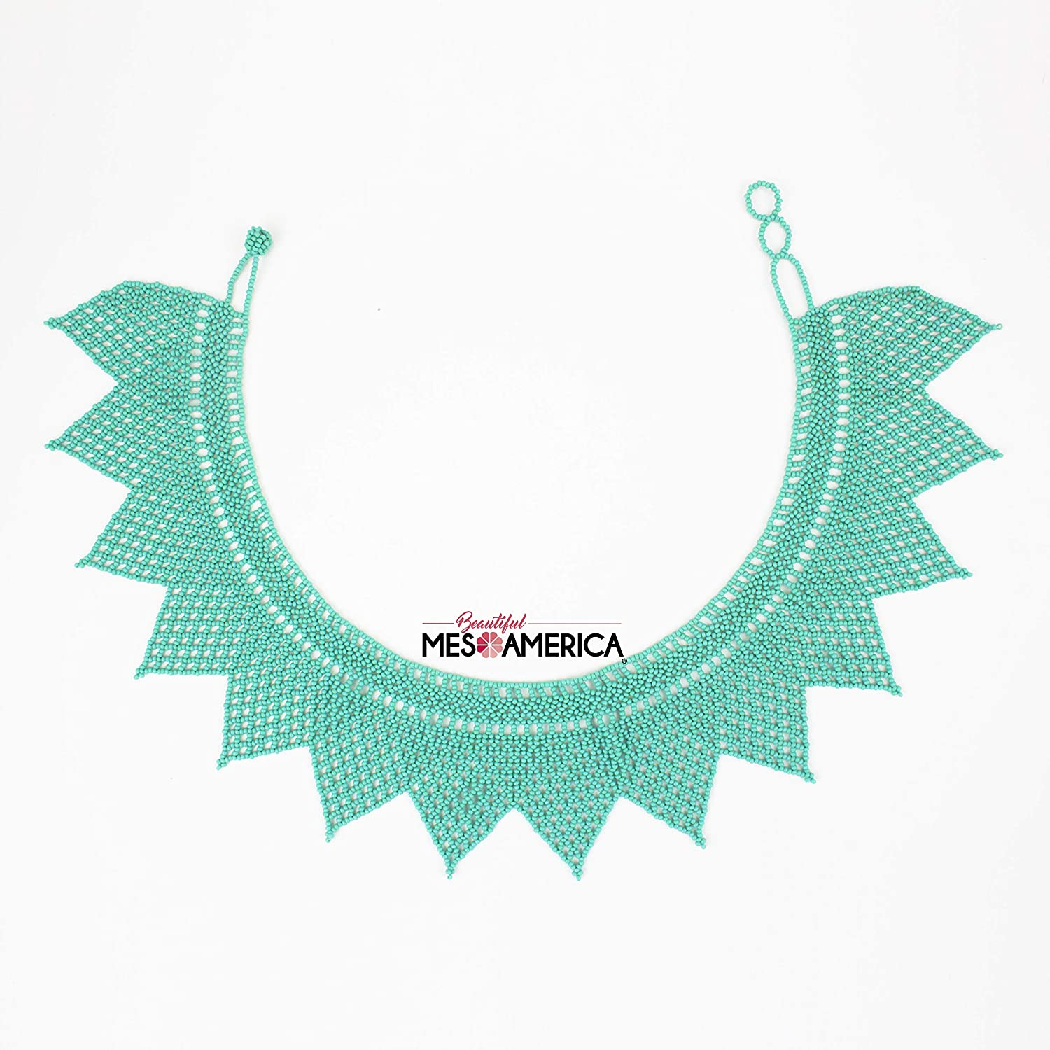 Handmade Mexican Beaded Choker Necklace Nelly