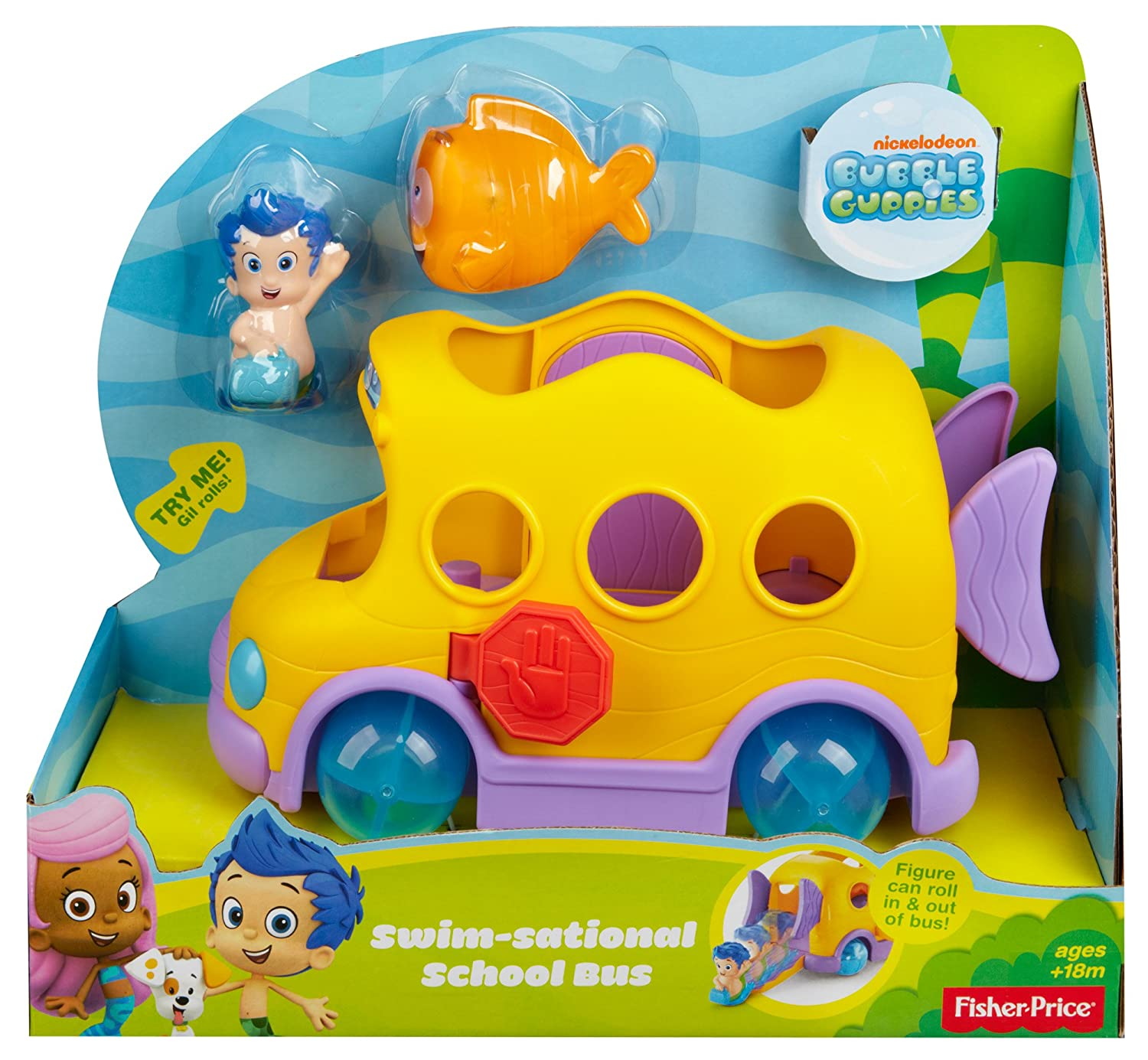 nickelodeon u0027s bubble guppies swim sational bus amazon co