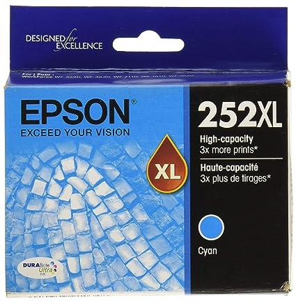 Epson DURABrite Ultra 252 X L Cartucho de Tinta - Cian T252 ...