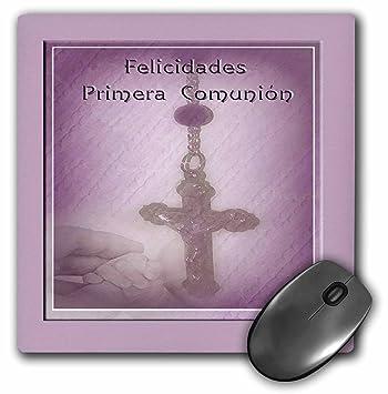 3dRose LLC 8 x 8 x 0.25 Inches Mouse Pad, español Primera Comunión, felicitates primera Comunión, Rosario, color rosa (MP 43410 _ 1): Amazon.es: Oficina y ...