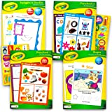 Crayola Preschool Workbooks Set -- 4 Pre-K Learning Workbooks for Preschoolers and Reward Stickers (Alphabet, Counting, Colors, Shapes and More) (Preschool Set)