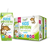 Deals on 12 Pack Orgain Kids Protein Organic Nutritional Shake, Vanilla 8.25 Ounce