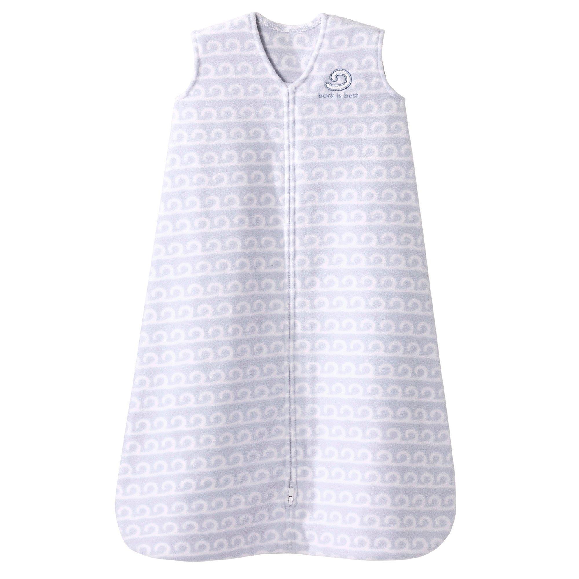 Halo SleepSack Micro-Fleece Wearable Blanket, Grey Wave, Small